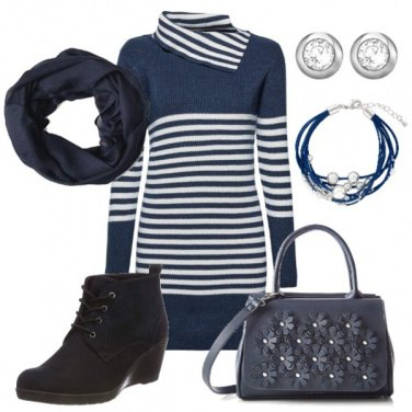 Outfit Look in blu