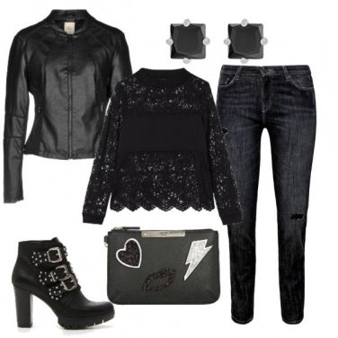 Outfit Black rock night