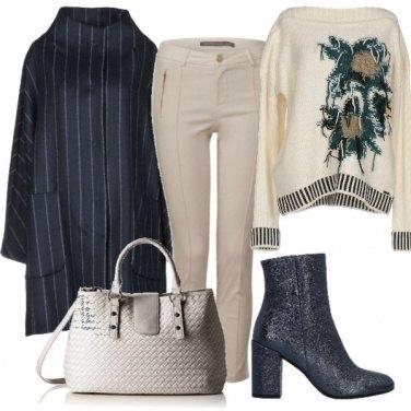 Outfit Chic con il gessato elegante