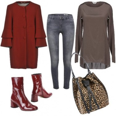 Outfit Animalier e vernice rossa!