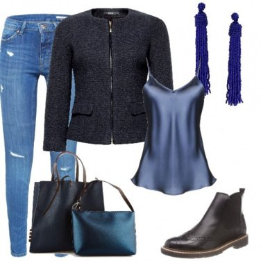 Outfit Ombre blu