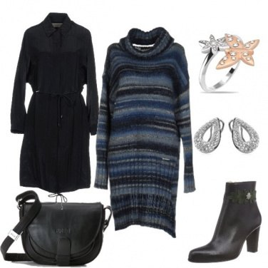 Outfit Abito in maglia e tracolla black