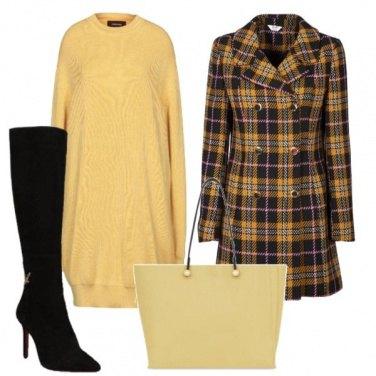 Outfit Il giallo con i quadri