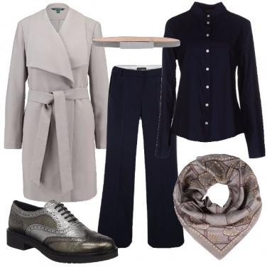 Outfit In blu e grigio
