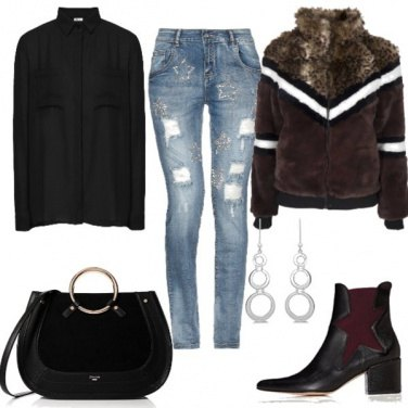 Outfit Il bomber in ecopelliccia