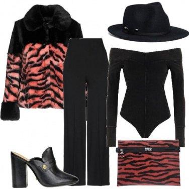 Outfit Animalier dal colore alternativo
