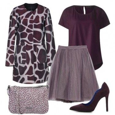 Outfit Viola e fantasia animalier