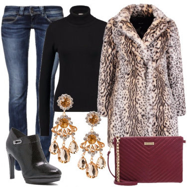 Outfit Trendy animalier