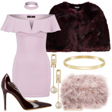 Outfit Malva e bordeaux