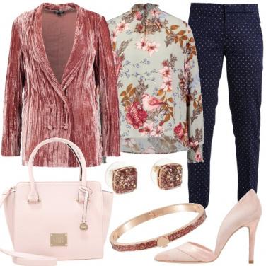 Outfit Fiori e pois