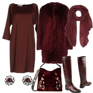 Outfit Total bordeaux
