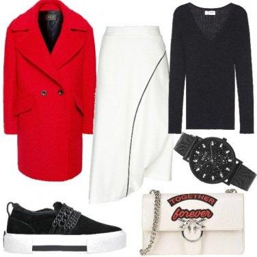 Outfit Urban con il rosso