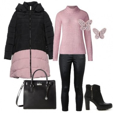 Outfit Pink& Black
