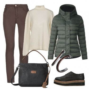 Outfit Piumini verde