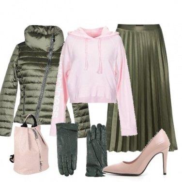 Outfit Piumino e décolleté Pittarello rosa