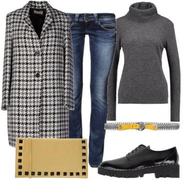 Outfit Cappotto pied de poule