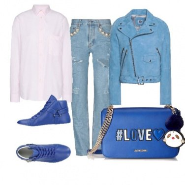 Outfit Blue bag
