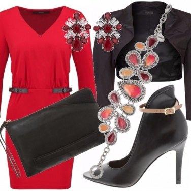 Outfit Rosso di sera