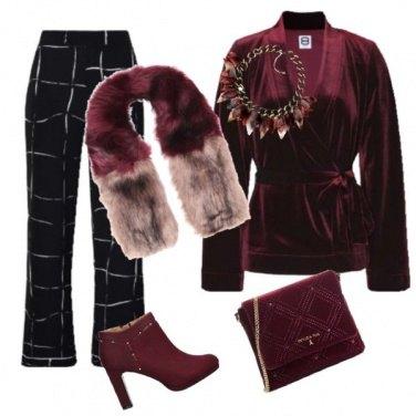 Outfit Collo pelliccia bicolore