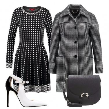 Outfit Bianco e nero inusuale
