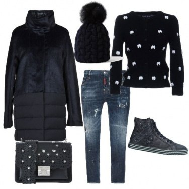 Outfit Il jeans e il nero
