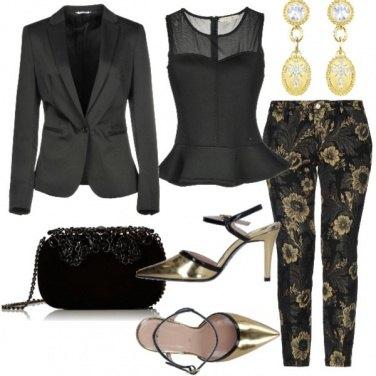 Outfit Nero e oro per le feste