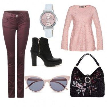 Outfit Pizzo e fiori