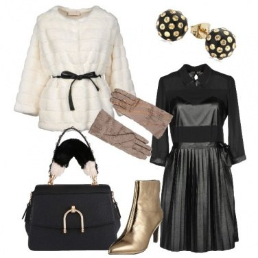 Outfit Nero ed oro per le feste