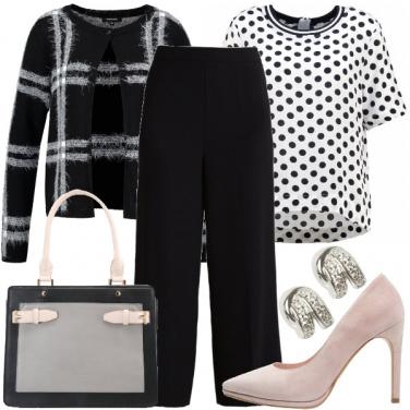Outfit Pois e scacchi