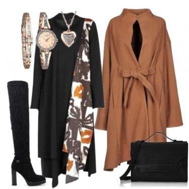Outfit Con il cappotto mantella