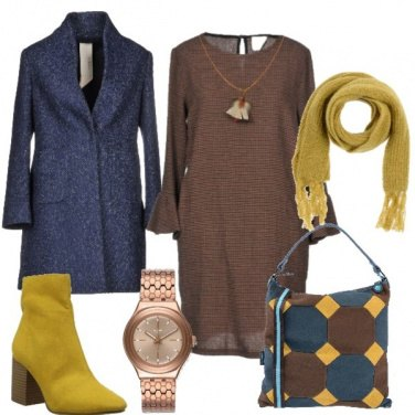 Outfit Blu e brown