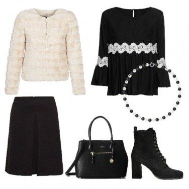 Outfit Pelliccia bianca
