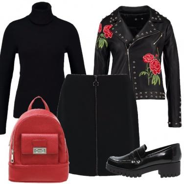 Outfit Il chiodo con i fiori
