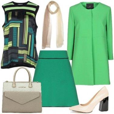 Outfit Colore e fantasie geometriche