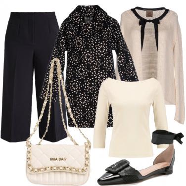 Outfit Il mio bon ton bicolore