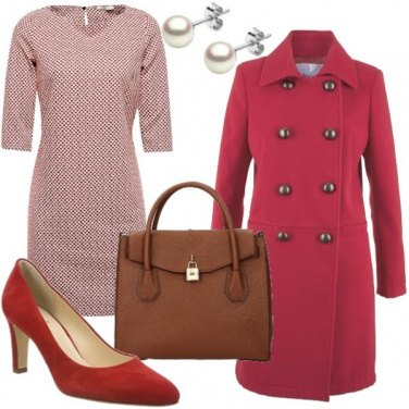 Outfit Rosso anni \'60