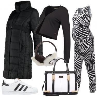 Outfit Vestire zebrato