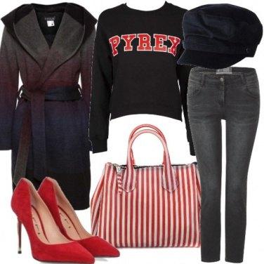 Outfit La bag a righe