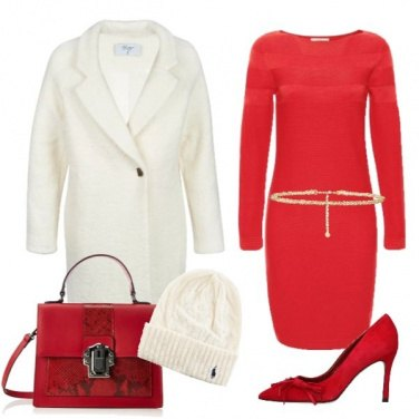 Outfit Bianco e rosso per la festa