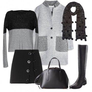 Outfit La sciarpa con i pon pon
