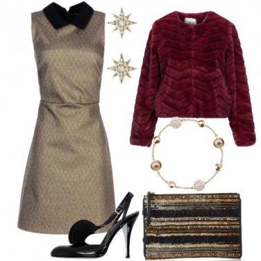 Outfit Oro e Rosso al Party di Natale