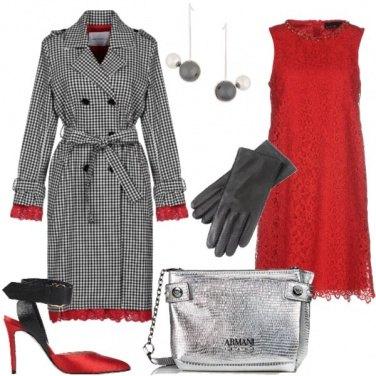 Outfit Quadri e pizzo per le feste