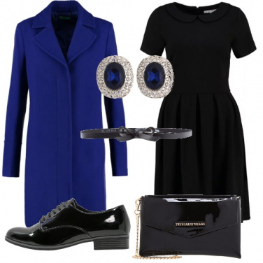 Outfit Bon ton in nero e blu