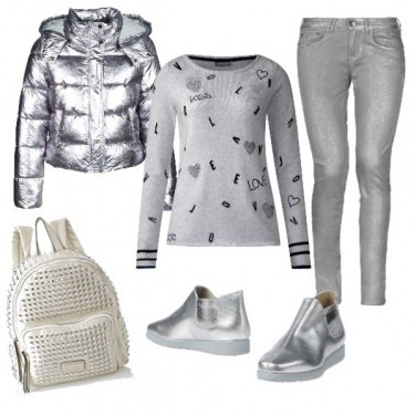Outfit Nuove tendenze: grigiargento sportivo