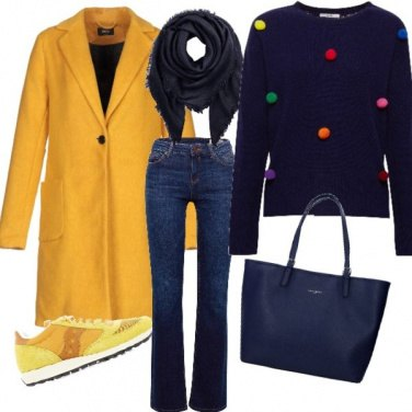 Outfit Giallo anche d'inverno