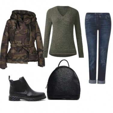 Outfit Hot camouflage