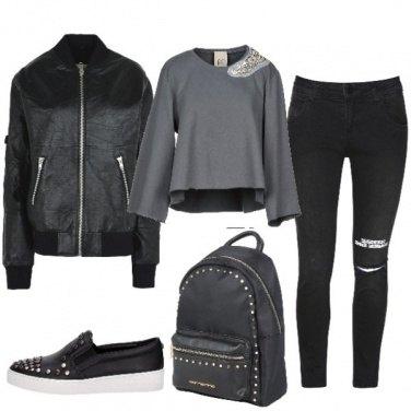 Outfit Le slip-on con le borchie