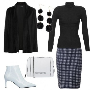 Outfit Black and white chic