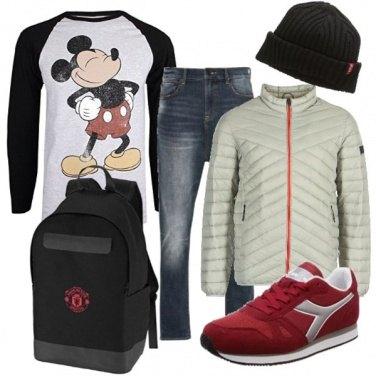 Outfit A scuola con Mickey