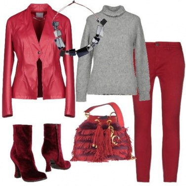 Outfit Quasi un total red